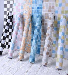5m de salle de bain carreaux étanche sticker mural vinyle pvc mosaïque auto adhésif autocollants anti-huile autocollants de bricolage Fonds d'écran DIY Décoration de la maison