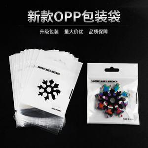 Selling 18 in 1 Multifunctional Snowflake Tool Card Opp Bag Printing Packaging Wrench Screwdriver YU1B813