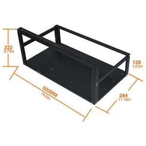 Steel Coin Open Air Miner Mining Frame diy Rig Case Up To 6-8 GPU Ethereum Bitcoin Rigs Aluminum Stackable Mining-Frame