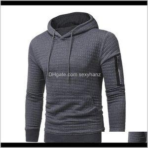 Толстовка толстовки мужская одежда одежда капля доставка 2021 сплошные пуловеры ZIP повседневная мода с капюшоном свитер осень зима теплая мужская ткань
