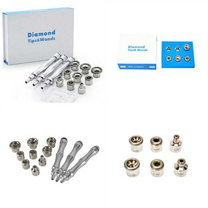 Skin Cleaning Tools Diamond Microdermabrasion Tips of Beauty Equipment 12pcs 6pcs set Dermabrasion Metal Tip and Wands