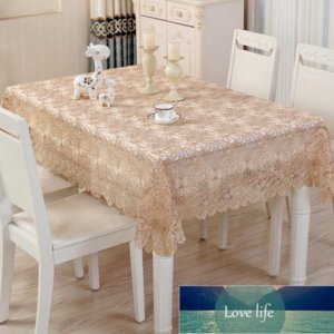 lace embroider rectangle table cloth home decor round tablecloth for wedding party runner dust cover white pastoral sofa