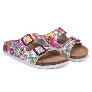 New Summer Man Flats Beach Valentine Cork Slippers Sandals Casual Double Buckle Clogs Slides Men Flip Flops Shoe Plus Size 35-45
