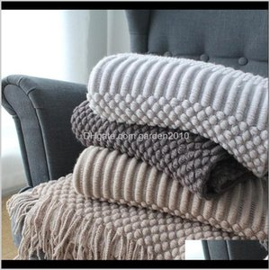 Blankets Europe Plaid Sofa Bed Knitted Hubblebubble Nordic Style Travel Car Air Condition Knit Throw Blanket Cover Bedspread Koc 0Amvc Q9Ars