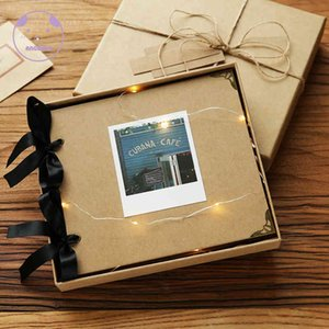 ANGWING Loose-Leaf Wedding Photo Album Scrapbook 20Pages Blank DIY Albums Photo Cover Self Adhesive Scrapbook Album Case Binding 210330