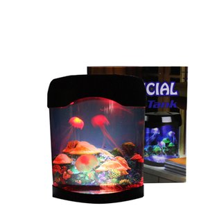 Jellyfish Tank Marine World Swimming Mood Light LED Colorful Aquarium Night Lights Children's Lamp Decorative Lighting USALIGHT