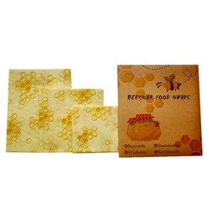 3 упаковка натуральный многоразовый пчел пчел воск пищевой обертывания - небольшая среда большой 606 S2