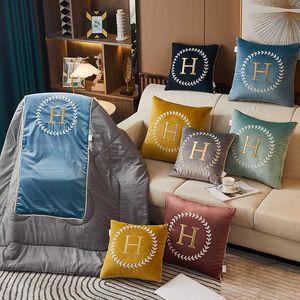 Pillow quilt dual-purpose embroidery sofa car cushion Dutch velvet folding creative pillow advertising gift