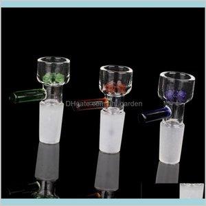 Otros accesorios para fumar Dries del hogar Home Jardín al por mayor Venta al por mayor Tazón de vidrio Pieza 14mm 18mm Junta masculina con filtro de copo de nieve Multipl