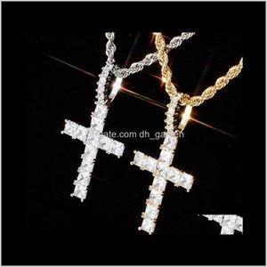 القلائد شخصية خمر روز الذهب طباشير الماس مثلج خارج قلادة سلسلة قلادة مربع مكعب زركونيا مجوهرات هدية f f3wde