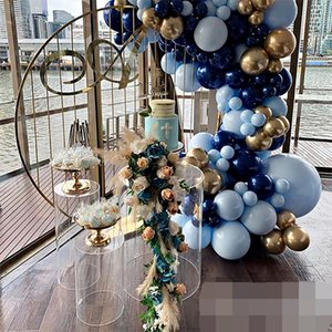 Wedding Decoration Cylinder Stand Acrylic Pedestal Plinth Flowers Balloons Pillar Rack For Birthday Kids Shower Grand Event Backdrops Props Crafts Display Shelf