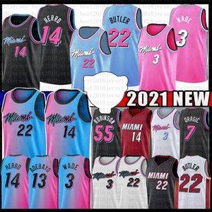 BAM 13 Джимми Тайлер 22 Баскетбол 14 Herro Ado 2021 Баскетбол Джерси 55 Дуэйн Дуэйн 3 Уэйд Горан 7 55 Дункан Драгический Кендрик Робинсон Nunn
