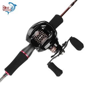 RoseWood Winter Fishing Trout Casting Rod & Reel Combo (2 Piece) 6' Length Fast Action Portable Carbon Pole Kits