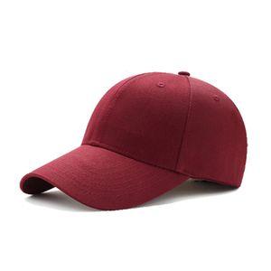 Cap Solide Farbe Casual Baseball Dome Cornice Einfache Baumwolle Outdoor Sport Cap