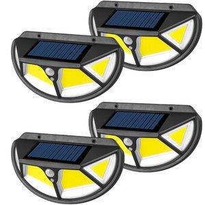 4шт светодиодный солнечный свет открытый солнечный фонарь с датчиком движения света солнечный свет Уличный светильник светодиодный прожектор для украшения сада