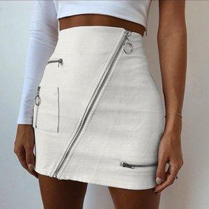 Harajuku White Girl Skirt Sexy Street Ins Commute Ol Bag Hip Women High Waist Leather Mini Skirts