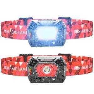 Headlamp Gesture Sensor USB Rechargeable Built-in Battery Fishing Headlight Torch Outdoor Waterproof 120 Lumen Headlamps