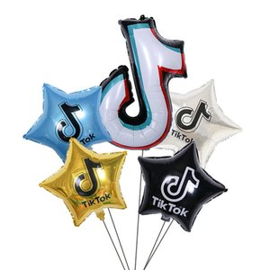 New Design TIK TOK Large Size aluminum balloon Party decorated Inflatable ball