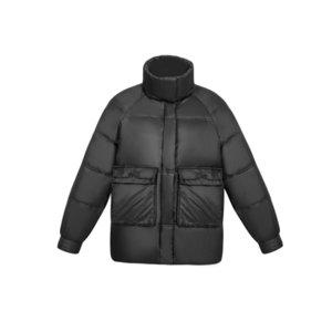 Kissqiqi 2020 Новая зимняя куртка с длинным рукавом Full-zip с капюшоном Пальто женщины мода женские тяжелые качества тяжелого веса