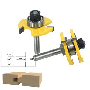 QQQ 2PC ROUTER BIT FOR WODD high quality Tongue & Groove Joint Assembly Router Bit Set 3 4 Stock Wood Cutting Tool - RCT