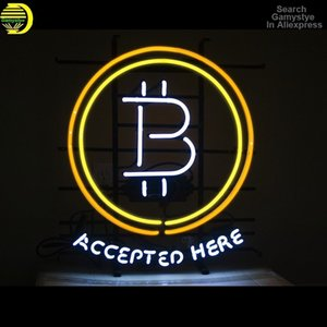 Custom B Buy Sell Here Bitcoin ATM Custom Beer Bar Glass Neon Light Sign Accepted Here Bitcoin Coin Desk Lamp Commercial Decor
