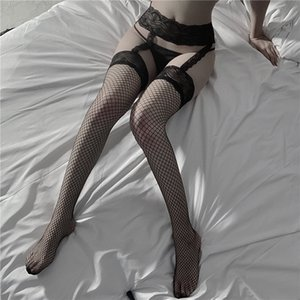 Erotic lingerie sexy Socks lace side suspenders one-piece pantyhose stockings fishnet stocking
