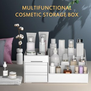 Makeup Organizer Large Capacity Cosmetic Storage Box Desktop Sundries Jewelry Nail Polish Drawer Container Boxes & Bins