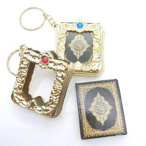 Beychain Ислам Коран Небольшой кулон Религиозные украшения Мини-Коран брелок Подвеска подвеска
