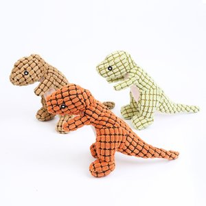 Stuffed Plush Animals AnimalsPet vocal dinosaur puzzle 30 * 10cm dog toy interactive gnawingRB49EGSK