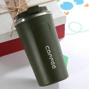 물병 380ml 스테인레스 스틸 진공 절연 커피 티 컵 혁신적인 핸드 헬드 플라스크 자동차 및 매일 사용