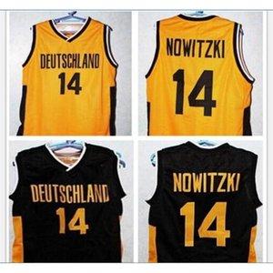 Пользовательские 009 Молодежные женщины Vintage # 14 Dirk Nowitzki Team Deutschland Германия Баскетбол Джерси Размер S-6XL или пользовательское имя или номер Джерси