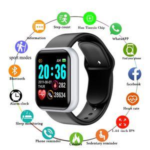 Y68 الذكية ووتش اللياقة البدنية سوار الصحة أساور النشاط تعقب معدل ضربات القلب رصد ضغط الدم بلوتوث ساعة ذكية