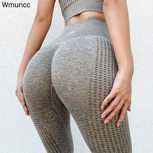 WMuncc Frauen Hohe Taille Bauchsteuerung Energie Nahtlose Sportgymnastikgurgging Laufen Fitness Yoga Hosen Komfortables Ganzaufnahme Outfit