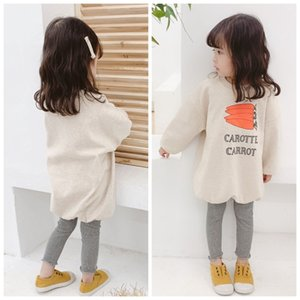 2020 autumn children's clothing new children's sweater girls long printed sweater LY102