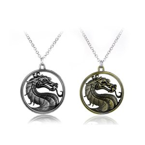 Online Game Mortal Kombat Necklace Vintage Fighting Games Dragon Pendant For Men Jane Empire Jewelry Collares Necklaces