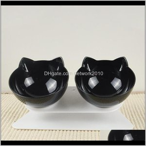 Feeders Bowls Food Water Pet Drinking Dish Cat Puppy With Raised Feeding Supplies Small Dog Pets Feeder Ihypo Yaats