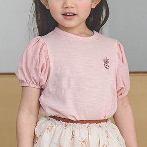 Children T-shirts Girls Tops Baby Clothes Child Wear Summer Cotton Short Sleeve 1-7T B4638