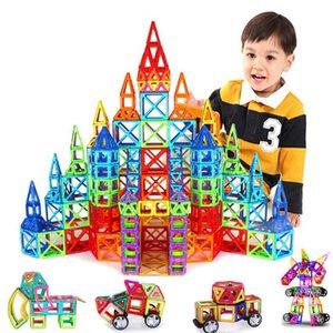 31~160pcs Big Size Magnetic Designer Construction Set Model & Building Toy Magnets Magnetic Blocks Educational Toys For Children Q0723