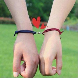 2pcs Paired Bracelets Mountain Adjustable Braided Thread Braslet Lover Forever For Couple Brazalete Valentine Braclet Pulseira Charm