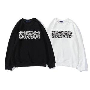 2021 Herren Hoodies Hohe Qualität Gestickte Nummer Muster Schwarz-Weiß Designer Hoodie Paar Pullover Asiatische Größe