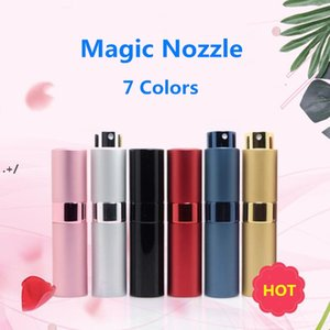 NEW7 Colors Spray Bottle Metal aluminum Portable Refillable Perfume Jar Cosmetic Container Empty Atomizer Travel Liner Glass Containers GWA6