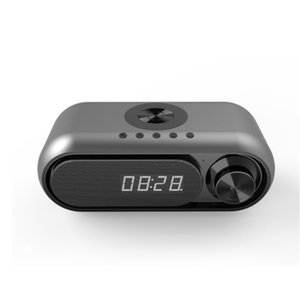 Smart LED display Table Alarm Clock Wireless Bluetooth Speaker With Wireless Charger FM Radio TF Card