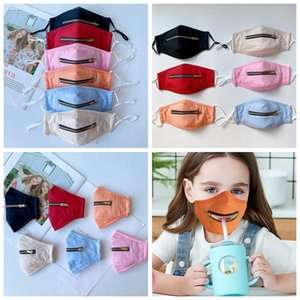 Designers Fashion Summer Dhl Kids 2 in 1 Face with Adjustable Zipper Children Dustproof Cotton Washable Protective Designer Party Mask Boom2015