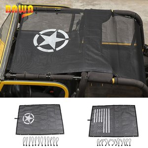 BAWA Car Cover Jeep TJ 1997-2006 PVC SunShade Roof Top Mesh UV Proof Protection Accessories for Wrangler tj 4 Door