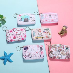 Promotional gift Card Holders Coin bags Girls Pink Cute cartoon creative PU biological zero wallet key bag mini children bag small purse