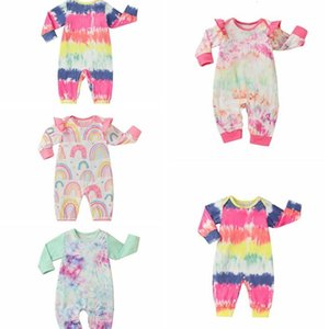 Baby Rompers Tie Dye Boys Clothing Cotton Long Sleeve Jumpsuit Newborn Boutique Onesies Spring Autumn Baby Girl Footies Clothes LSK514