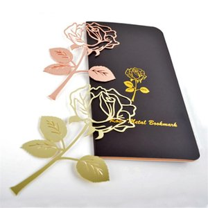 Metal Rose Bookmark Hollow Exquisite Book Page Markers Kids Reading For Adults Valentines Gifts
