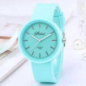 Simple Silicones Brand watches Wokai Casual Quartz Watch Women Crystal Silicone Relogio Feminino Polshorloge Koop 2021