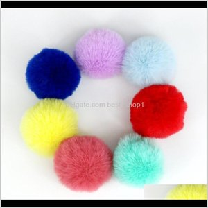 Party Favor Fur Artificial Wool Pendant Soft Pom Poms Keyring Lovely Ball For Keychain Bag Charm Knitted Hat Accessories 9Y8J3 Jo1Ph