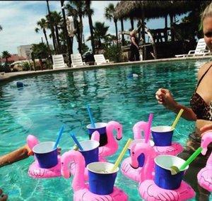 Şişme Flamingo İçecekler Fincan Tutucu Havuzu Yüzer Barlar Bardak Yüzerleştirme Cihazları Çocuk Banyo Oyuncak Küçük Boyutu